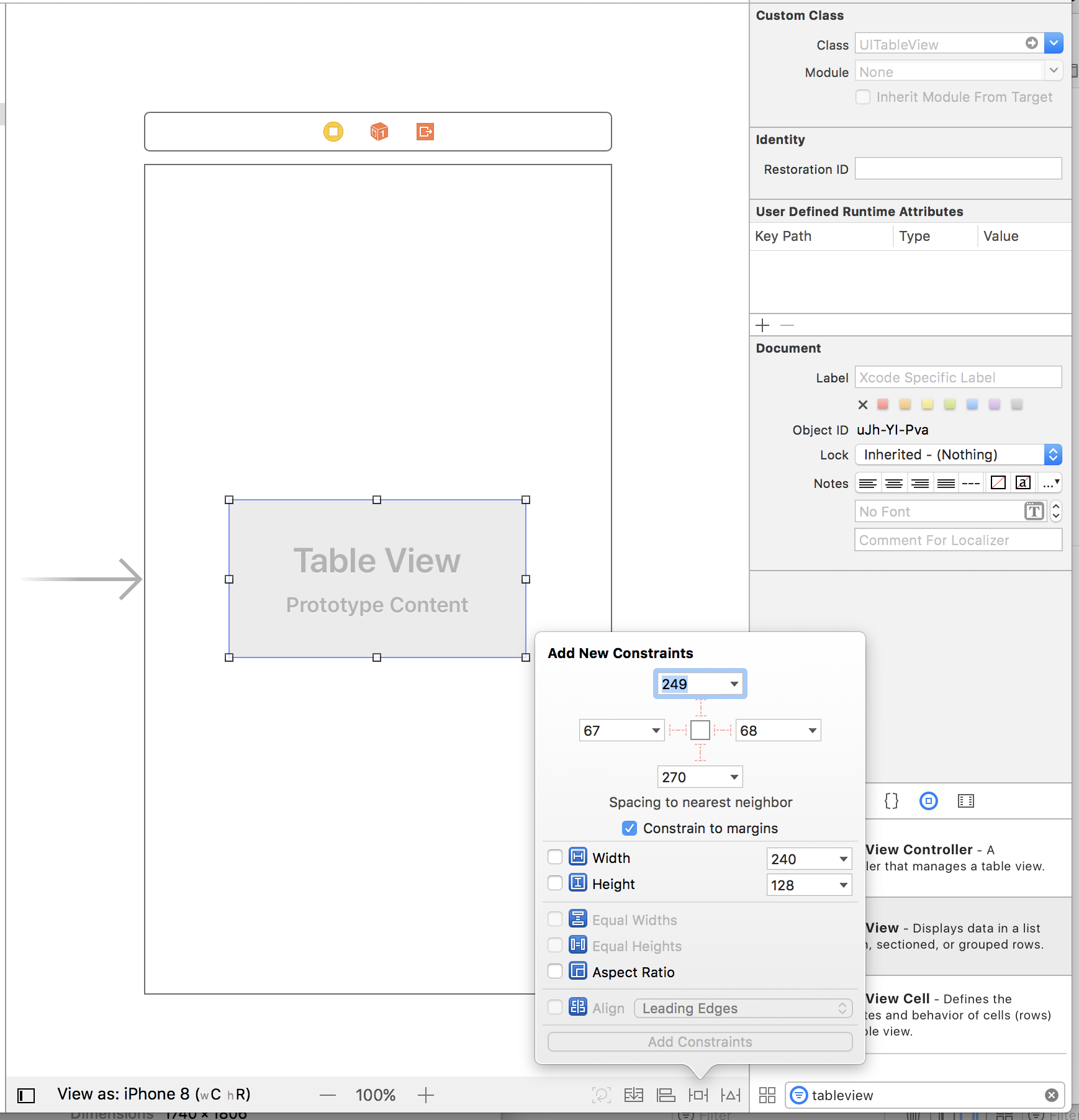 autolayout com storyboard adicionando constraints