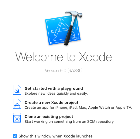 xcode 9 new project